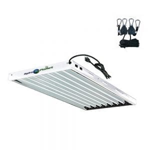 white hydroplanet fluorescent grow lights-lamps-fixtures